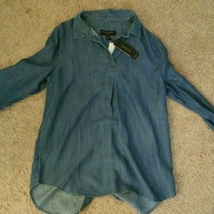 Banana Republic denim shirt.